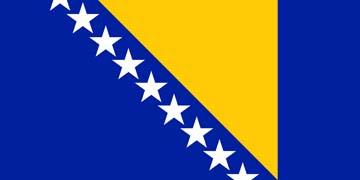 Клипарт флаг Боснии и Герцеговины, для Фотошоп в PSD и PNG, без фона
