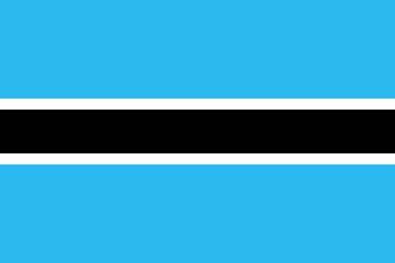 Клипарт флаг Ботсваны, для Фотошопа в PSD и PNG, без фона
