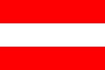 Клипарт флаг Австрии, для Фотошопа в PSD и PNG, без фона