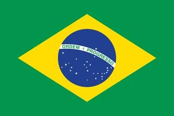 Клипарт флаг Бразилии, для Фотошопа в PSD и PNG, без фона