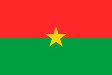 Клипарт флаг Буркина-Фасо, для Фотошопа в PSD и PNG, без фона
