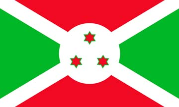 Клипарт флаг Бурунди, для фотошоп, PSD и PNG без фона