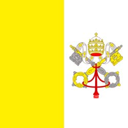 Клипарт флаг Ватикана, для фотошоп, PSD и PNG без фона