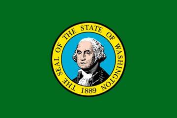 Клипарт флаг Вашингтона (столица США), для Фотошоп в PSD и PNG, без фона
