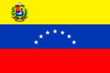 Клипарт флаг Венесуэлы, для Фотошоп в PSD и PNG, без фона