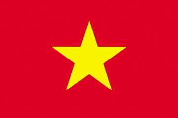 Клипарт флаг Вьетнама, для Фотошопа в PSD и PNG, без фона