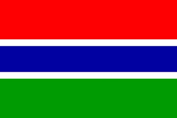 Клипарт флаг Гамбии, для Фотошоп в PSD и PNG, без фона