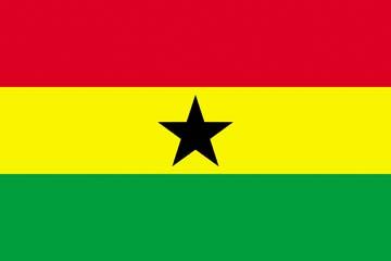 Клипарт флаг Ганы, для Фотошоп в PSD и PNG, без фона