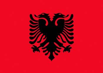 Клипарт флаг Албании, для Фотошоп в PSD и PNG, без фона