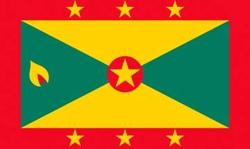 Клипарт флаг Гренады, для Фотошоп в PSD и PNG, без фона