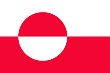 Клипарт флаг Гренландии, для фотошоп, PSD и PNG без фона