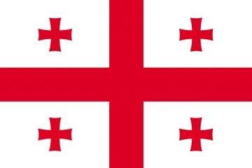 Клипарт флаг Грузии, для Фотошоп в PSD и PNG, без фона