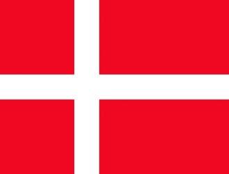 Клипарт флаг Дании, для Фотошоп в PSD и PNG, без фона