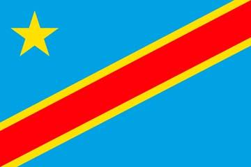 Клипарт флаг Конго, для Фотошоп в PSD и PNG, без фона