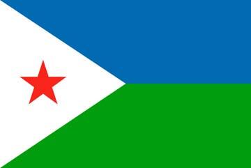 Клипарт флаг Джибути, для фотошоп, PSD и PNG без фона