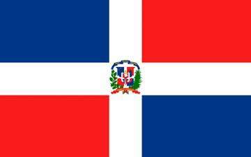 Клипарт флаг Доминиканской Республики, для Фотошоп в PSD и PNG, без фона