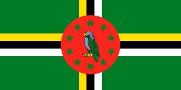Клипарт флаг Доминики, для фотошоп, PSD и PNG без фона