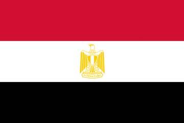 Клипарт флаг Египта, для Фотошоп в PSD и PNG, без фона