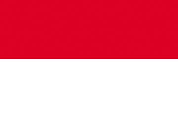 Клипарт флаг Индонезии, для Фотошоп в PSD и PNG, без фона