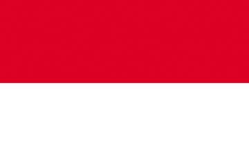 Клипарт флаг Индонезии, для фотошоп, PSD и PNG без фона