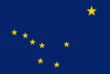 Клипарт флаг Аляски (штат США), для Фотошопа в PSD и PNG, без фона