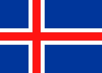 Клипарт флаг Исландии, для Фотошоп в PSD и PNG, без фона