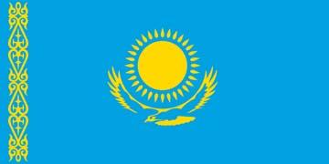 Клипарт флаг Казахстана, для Фотошоп в PSD и PNG, без фона