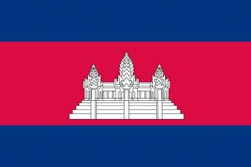 Клипарт флаг Камбоджи, для Фотошопа в PSD и PNG, без фона