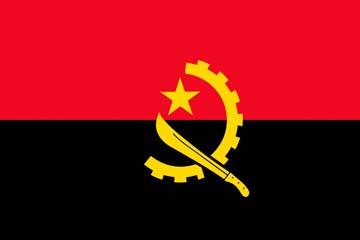 Клипарт флаг Анголы, для Фотошоп в PSD и PNG, без фона