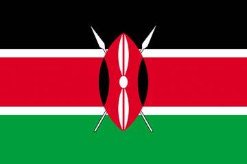 Клипарт флаг Кении, для Фотошопа в PSD и PNG, без фона
