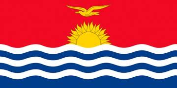 Клипарт флаг Кирибати, для фотошоп, PSD и PNG без фона