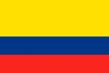 Клипарт флаг Колумбии, для Фотошоп в PSD и PNG, без фона
