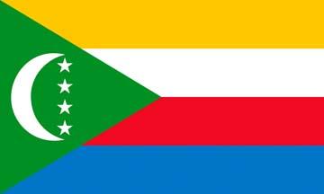 Клипарт флаг Коморских островов, для фотошоп, PSD и PNG без фона