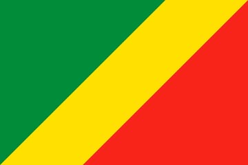 Клипарт флаг Республики Конго, для Фотошоп в PSD и PNG, без фона