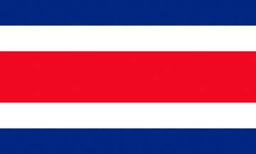 Клипарт флаг Коста-Рики, для Фотошопа в PSD и PNG, без фона