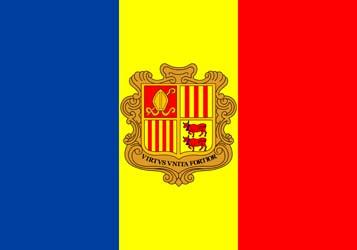 Клипарт флаг Андорры, для Фотошопа в PSD и PNG, без фона