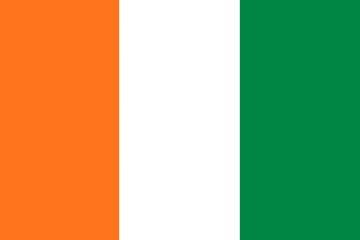 Клипарт флаг Кот-д'Ивуара, для Фотошоп в PSD и PNG, без фона