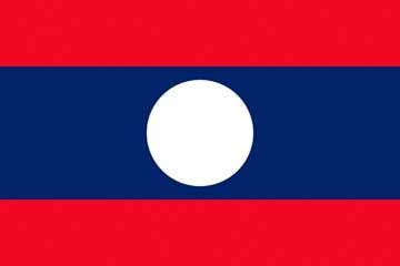 Клипарт флаг Лаоса, для Фотошопа в PSD и PNG, без фона