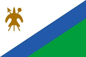 Клипарт флаг Лесото, для Фотошопа в PSD и PNG, без фона