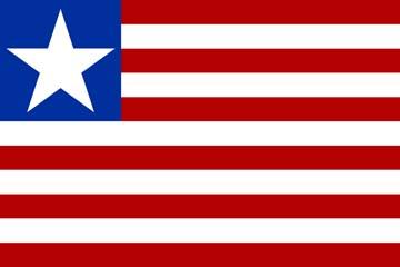 Клипарт флаг Либерии, для Фотошопа в PSD и PNG, без фона