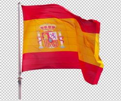 Клипарт флаг Испании, для Фотошоп в PSD и PNG, без фона