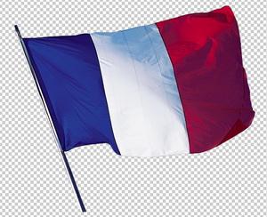 Клипарт флаг Франции, для Фотошоп в PSD и PNG, без фона