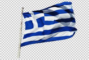 Клипарт флаг Греции, для Фотошоп в PSD и PNG, без фона