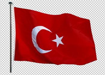 Клипарт флаг Турции, для Фотошоп в PSD и PNG, без фона