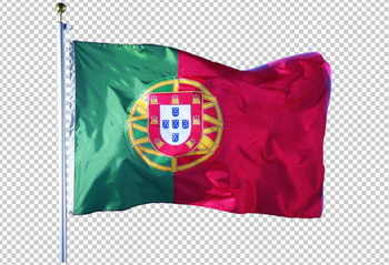 Клипарт флаг Португалии, для Фотошоп в PSD и PNG, без фона