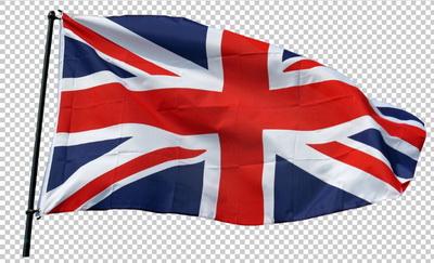 Клипарт флаг Англии (Великобритании), для Фотошоп в PSD и PNG, без фона