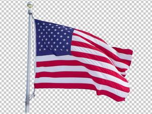 Клипарт флаг США (Америки), для Фотошоп в PSD и PNG, без фона