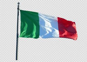 Клипарт флаг Италии, для Фотошоп в PSD и PNG, без фона