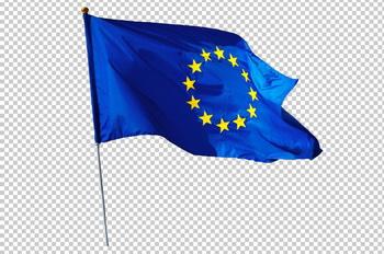 Клипарт флаг Европы (ЕС), для Фотошоп в PSD и PNG, без фона