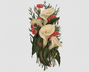 Клипарт букет лилий, для Фотошоп в PSD и PNG, без фона